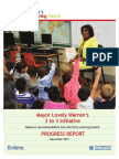 Progress report on city reading initiatives