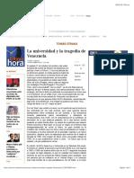 La universidad y la tragedia de Venezuela, TOMÁS STRAKA.pdf
