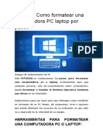 Tutorial Formateo de Pc