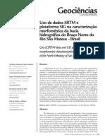 Uso de Dados SRTM e Plataforma SIG Na Caracterização Morfométrica Da Bacia Hidrográfica Do Braço Norte Do Rio São Mateus - Brasil
