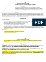 ACC 690 Final Project Guidlines and Rubric