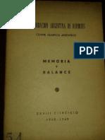Memoria y Balance CAD-COA, 1948-49