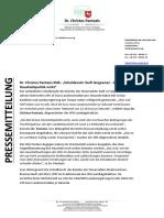 PM - DR. PANTAZIS MdL - Schuldenuhr Läuft Langsamer - Die Rot-Grüne Haushaltspolitik Wirkt