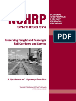 Preserving Freight and Passenger Rail Corridors and Service