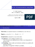 STATA Panel data