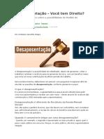 Desaposentação - Quem Tem Direito
