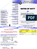Bahamas Customs Duty 2015