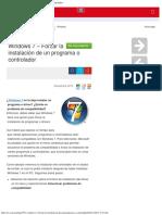 Windows 7 – Forzar La Instalación de Un Programa o Controlador
