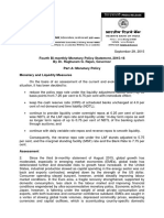 Fourth Bi-monthly Monetary Policy Statement, 2015-16