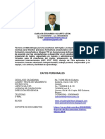Curriculum Carlos Olarte 2016
