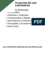 Clasificacion de Los Contratos Mercantiles