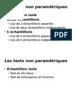 Les Tests Non Paramétriques
