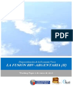 Democratizacion de la Economia Vasca. LA FUSION BBV ARGENTARIA II