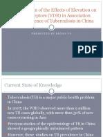 Elevation Vitamin-D Receptors (VDR) and Tuberculosis in China