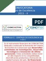 Presentacion Convocatoria Centros de Excelencia 2015 II Nuevo