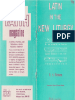 Latin in the New Liturgy