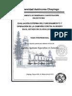 Evaluación a la campaña contra la Enfermedad de Aujeszky en Guanajuato