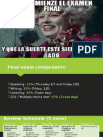 spanish 2 examen final presentacion dia 1