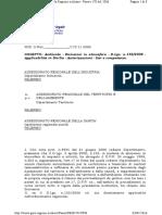 CPTA 2006 NOVEMBRE PARERE UFFICIO LEGALE LEGISLATIVO PROCEDIMENTO AIA CPTA