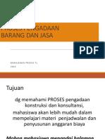 Manajemen Proyek 4 ( Materi Tambahan Pengadaan) 2015