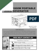Wen 1800w Portable Generator