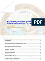 NGSS Implementation Plan California CDE