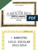 Planeacion Anual Sexto Grado 2013
