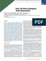 Green Toehold Switches de-novo-Designed Regulators of Gene Expression. Cell 2014