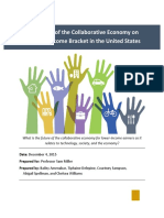 Collaborative Economy and the Low-Income Bracket in the U.S.