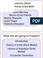 Presentation of History of Stock Market