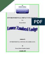 Environmental Impact Statement For Protea Hotels (Lower Zambezi)