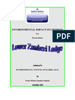 Environmental Impact Statement For Protea Hotels (Lower Zambezi)