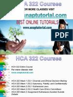 HCA 322 Apprentice tutors/snaptutorial