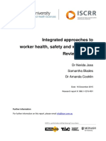 088.1 WorkHealth Integrated approaches to worker health, safety and wellbeing - update