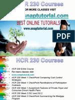 HCR 230 Apprentice tutors/snaptutorial