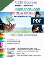 HCR 220 Apprentice tutors/snaptutorial