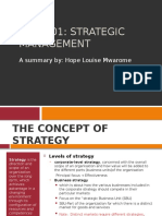 STRATEGIC MANAGEMENT - DSM 601
