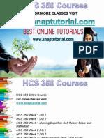 HCS 350 Apprentice tutors/snaptutorial