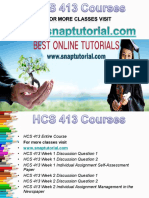 HCS 413 Apprentice tutors/snaptutorial