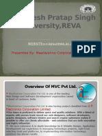 A.P.S university Report
