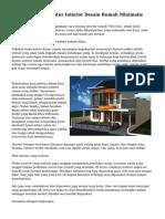Trik Praktis Mengatur Interior Desain Rumah Minimalis