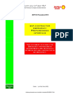 BSP HSE Contractor Emergency Preparedness Interface