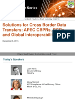Interoperable Solutions for Cross Border Data Transfers – APEC, CBPR, BCR from TRUSTe