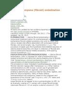 Uterine Leiomyoma Embolization