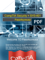 Pass4sure SY0-401 CompTIA Security + Exam Preparation