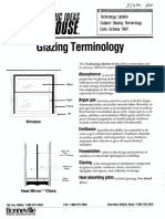Glazing Terminology