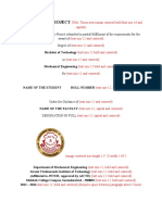 Mini Project Format