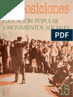 Revista Proposiciones N° 15_Educación Popular y Movimientos Sociales