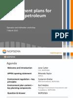Presentation NOPSEMA Environment Plan Workshop March 2012