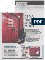 """IT Il Corriere Vinicolo """"CINA l'Incubo Del Sugar-free Extract"""""""